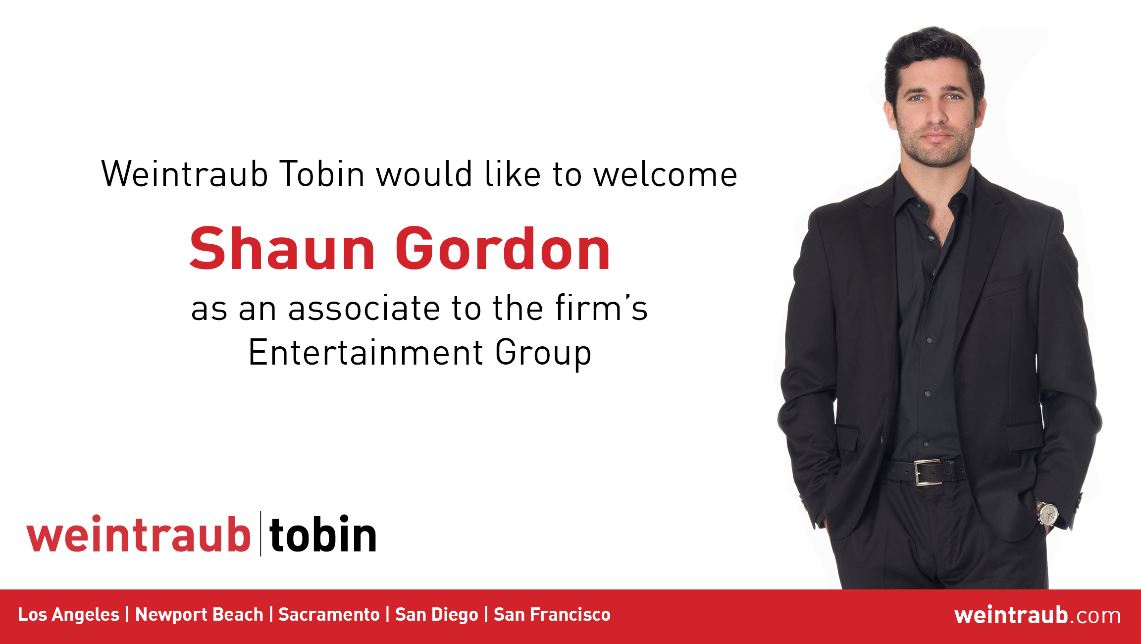 Shaun Gordon Joins Weintraub